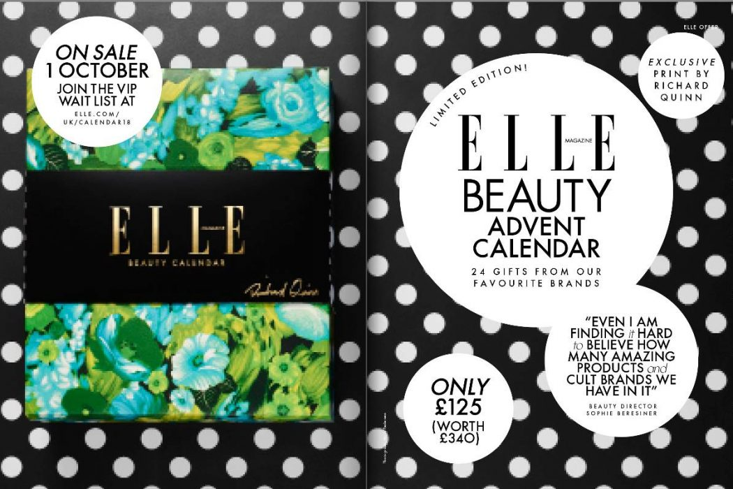 ELLE UK launches limited edition beauty advent calendar in ...