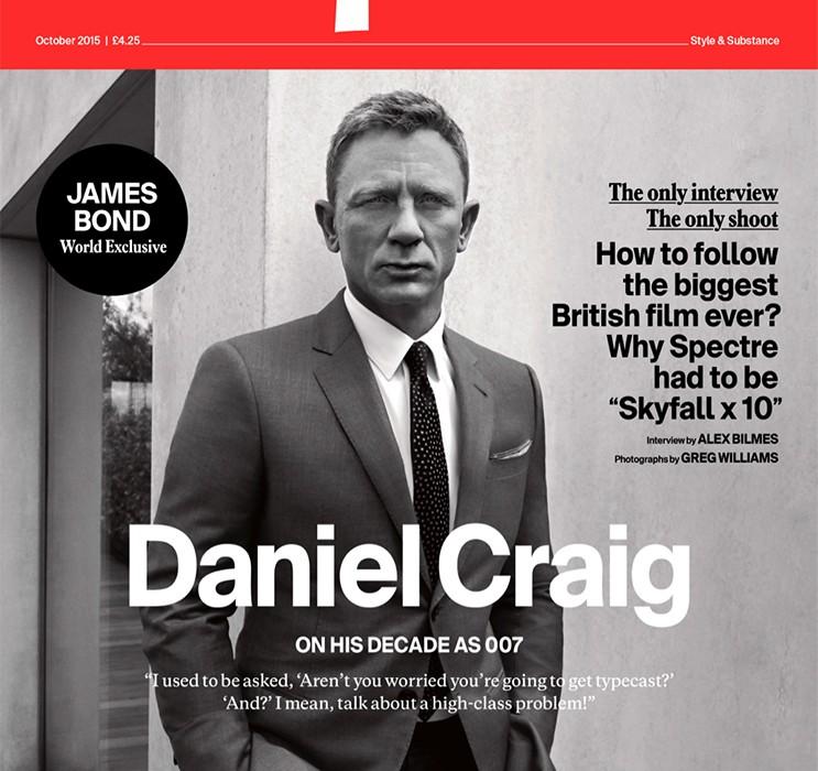 Spectre Magazine Cover Shows Daniel Craig as James Bond